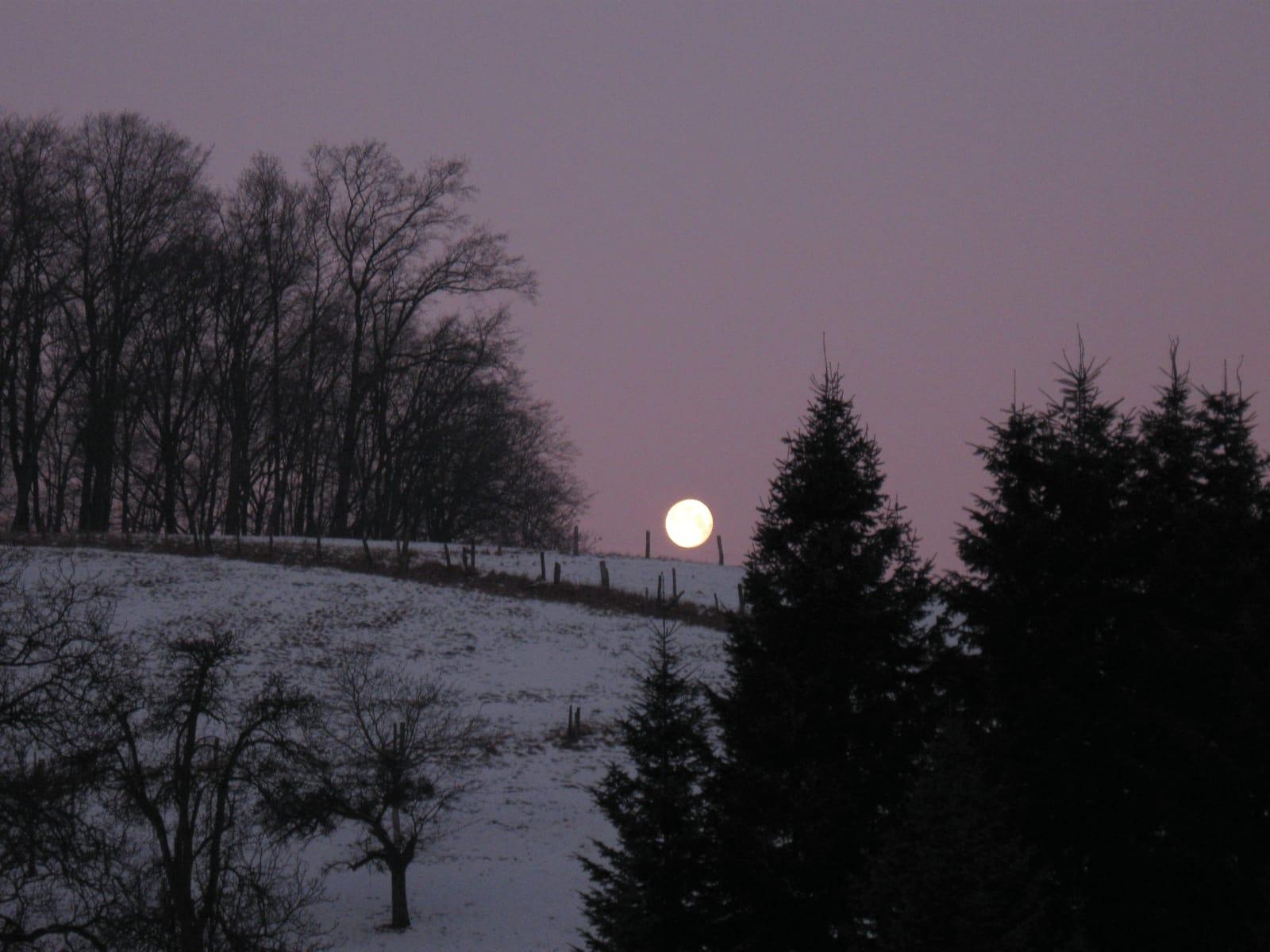Craniosacral Healing Ausbildung Vöckelsbach Vollmond im Winter