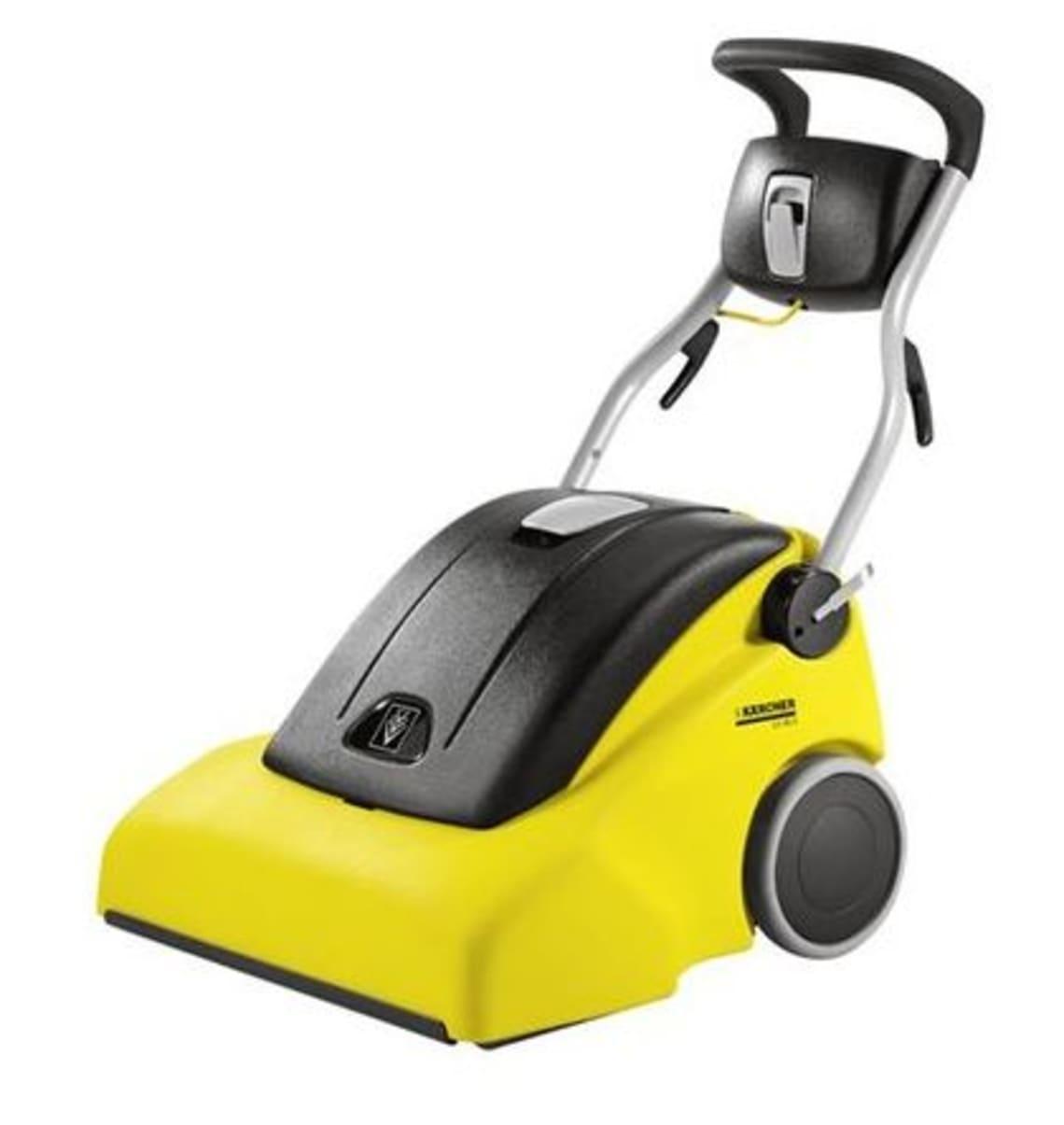 Teppichbürstsauger CV 66/2 Kärcher, Farbe Gelb und Schwarz Tennishallenboden Reinigung