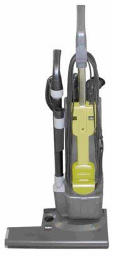 Teppichbürstensauger Clean 50 Farbe schwarz gelb und grau Tennishalle Reinigung