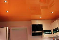 Orange Wand glänzend mit punktuellen Leuchten