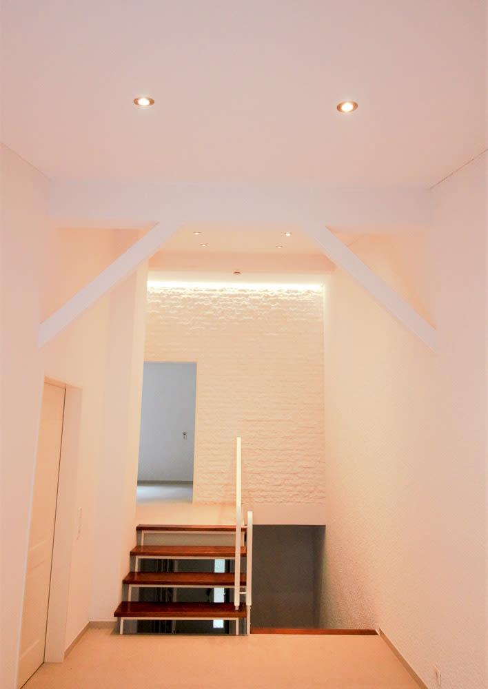 Wohnraum Spanndecke Farbe weiß im Flur