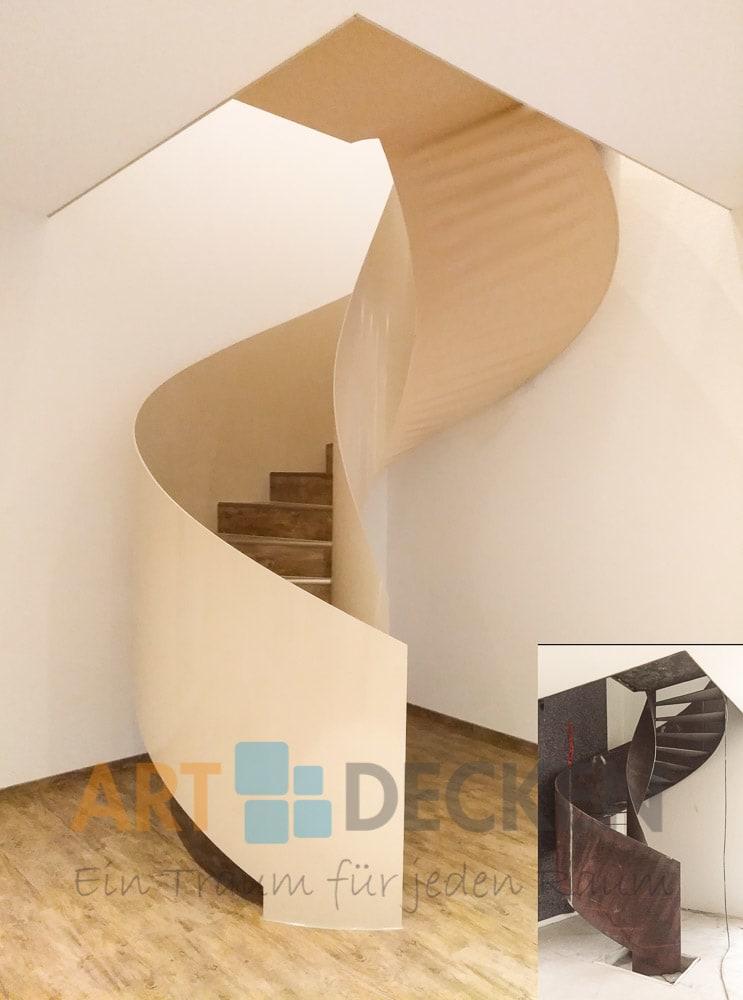 Wohnraum mit beider Wendeltreppe
