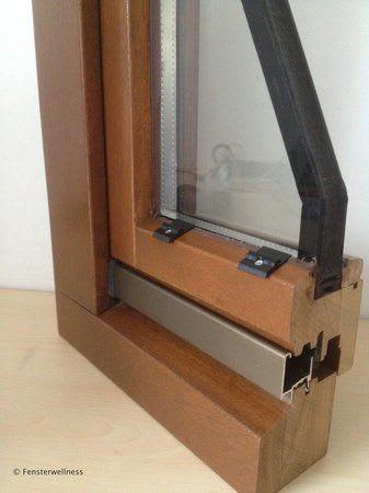 Fenster mit Befestigungsklips