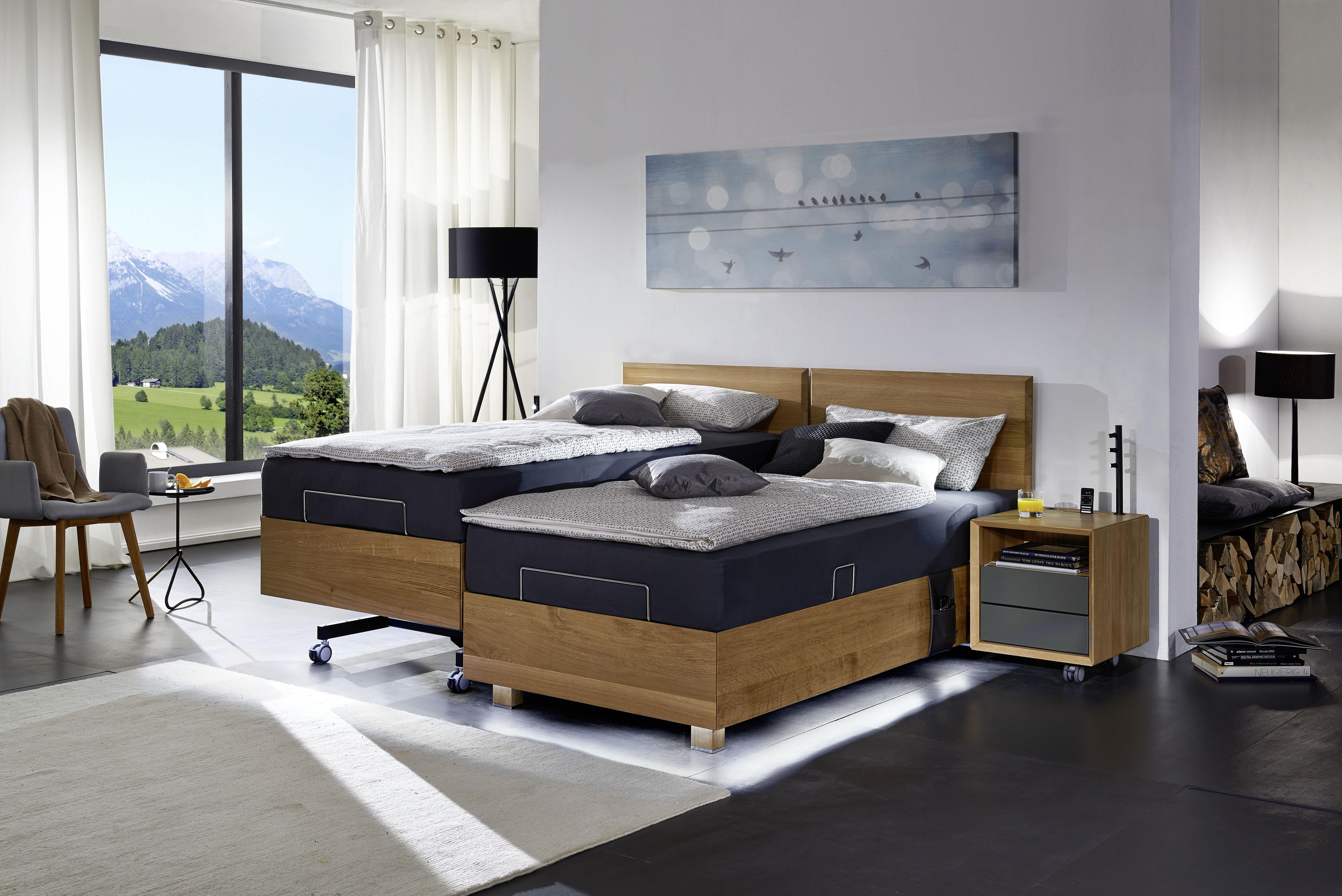 Lugano-Doppelbett Eiche_Nachttisch Modus