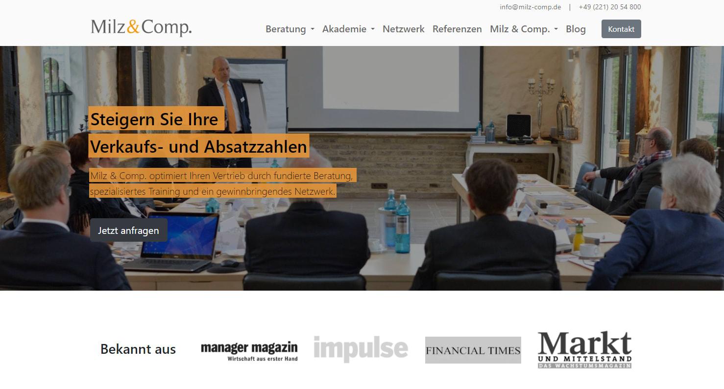 Inbound Marketing Beispiele MilzundComp