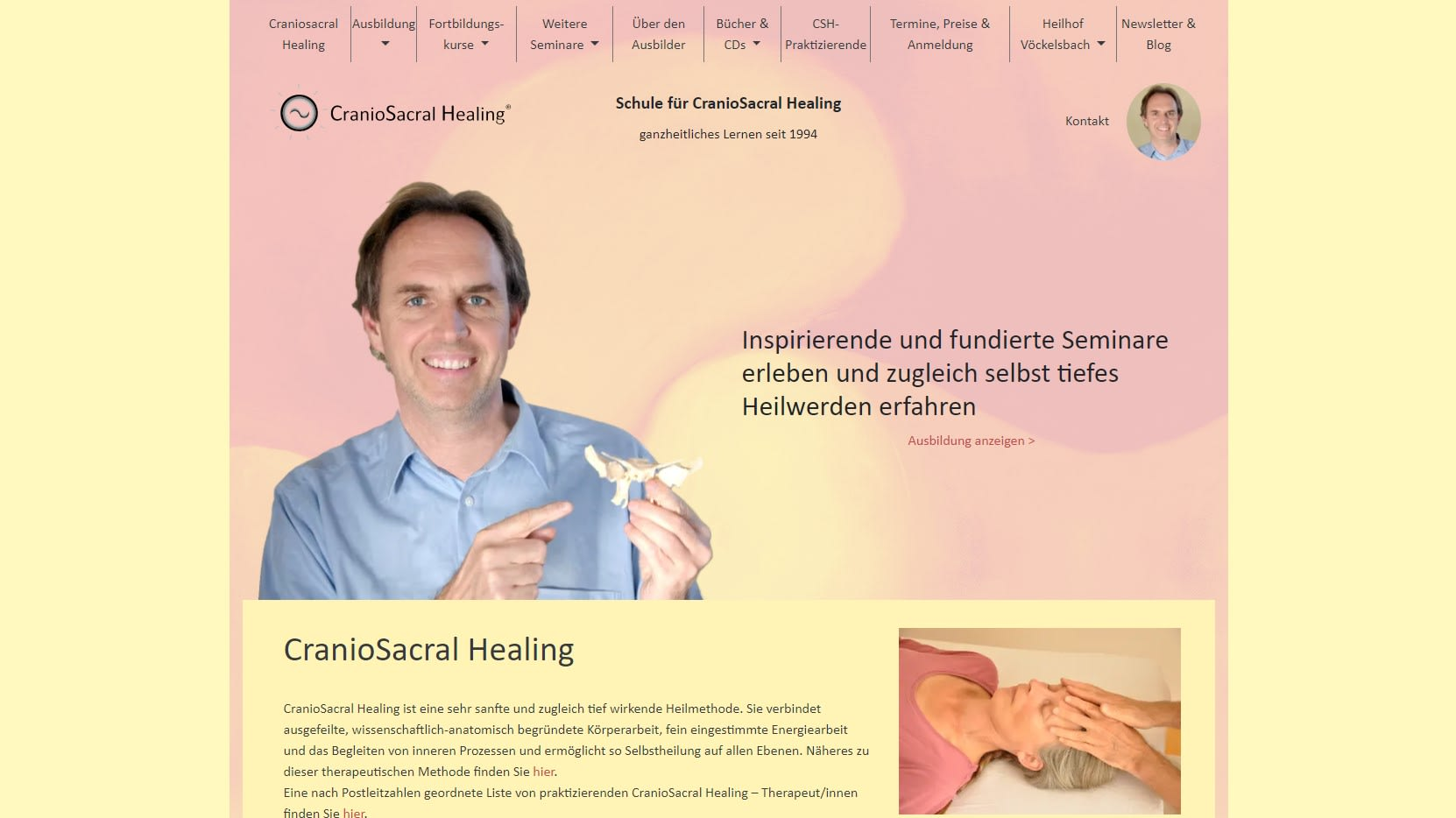 Screenshot craniosacral-healing.de