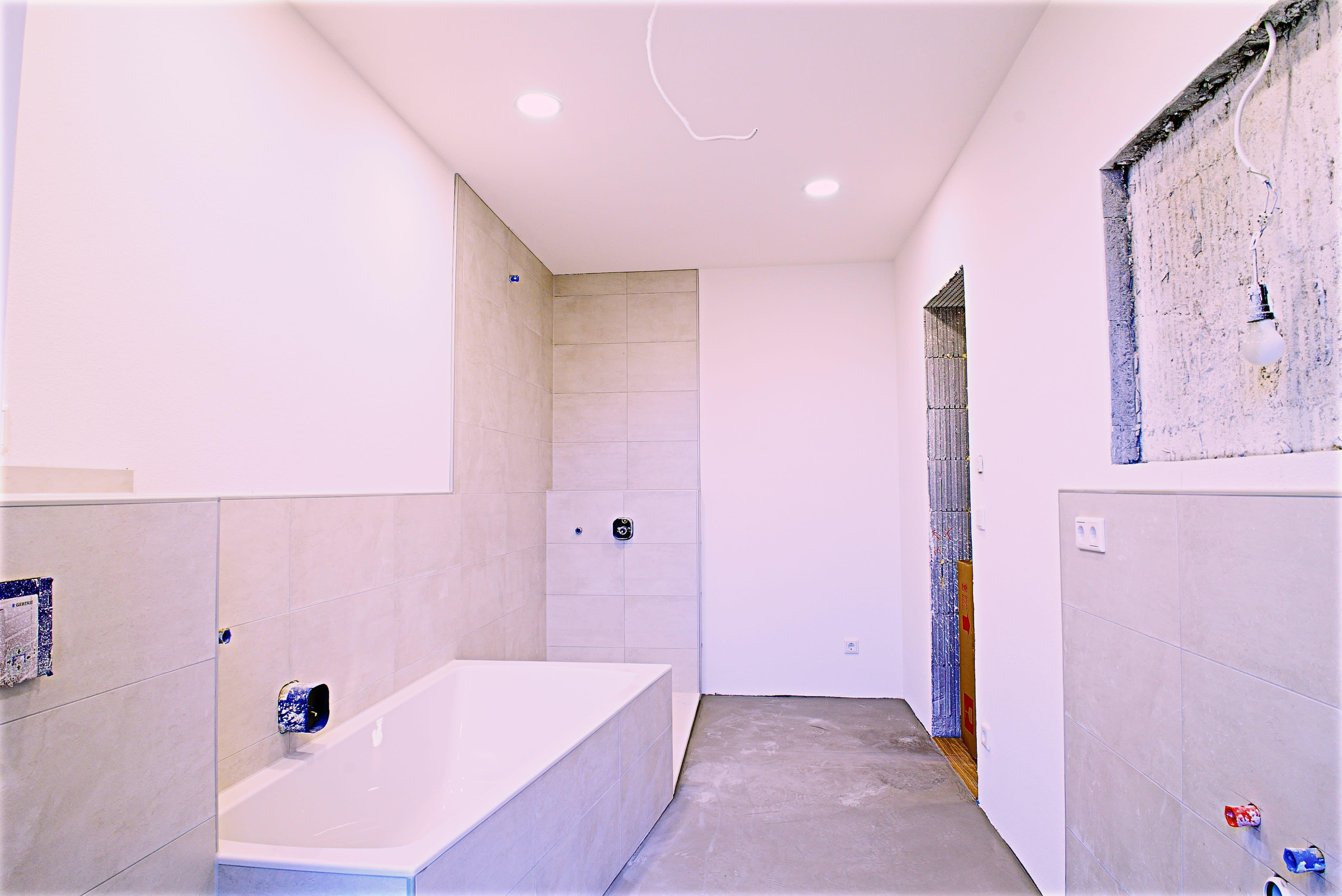 Ehemaliger Keller saniert zu Badezimmer
