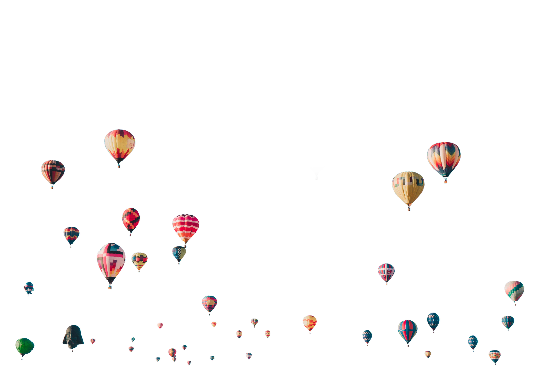 Fliegende Heißluftballons