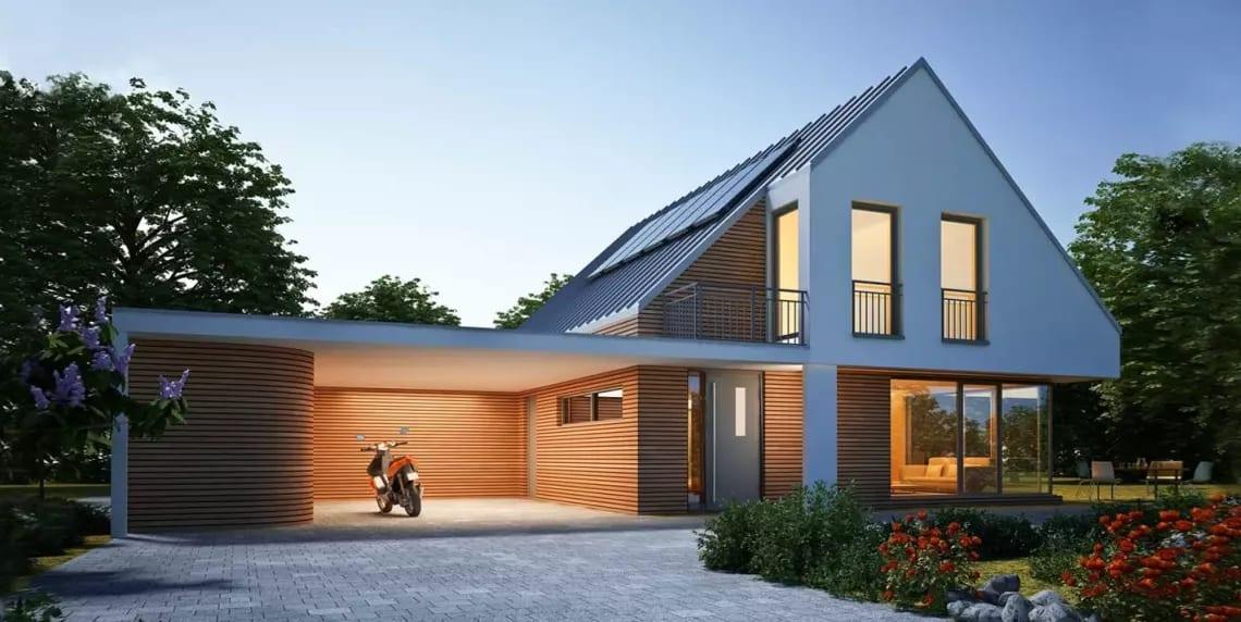 Haus mit Garage