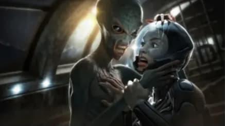 Alien würgt Astronautin