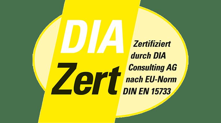 DIA Zertifizierung Logo