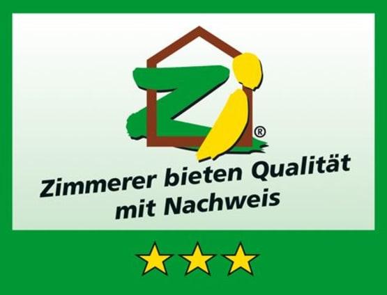 Zimmerer Innung drei Sterne Logo