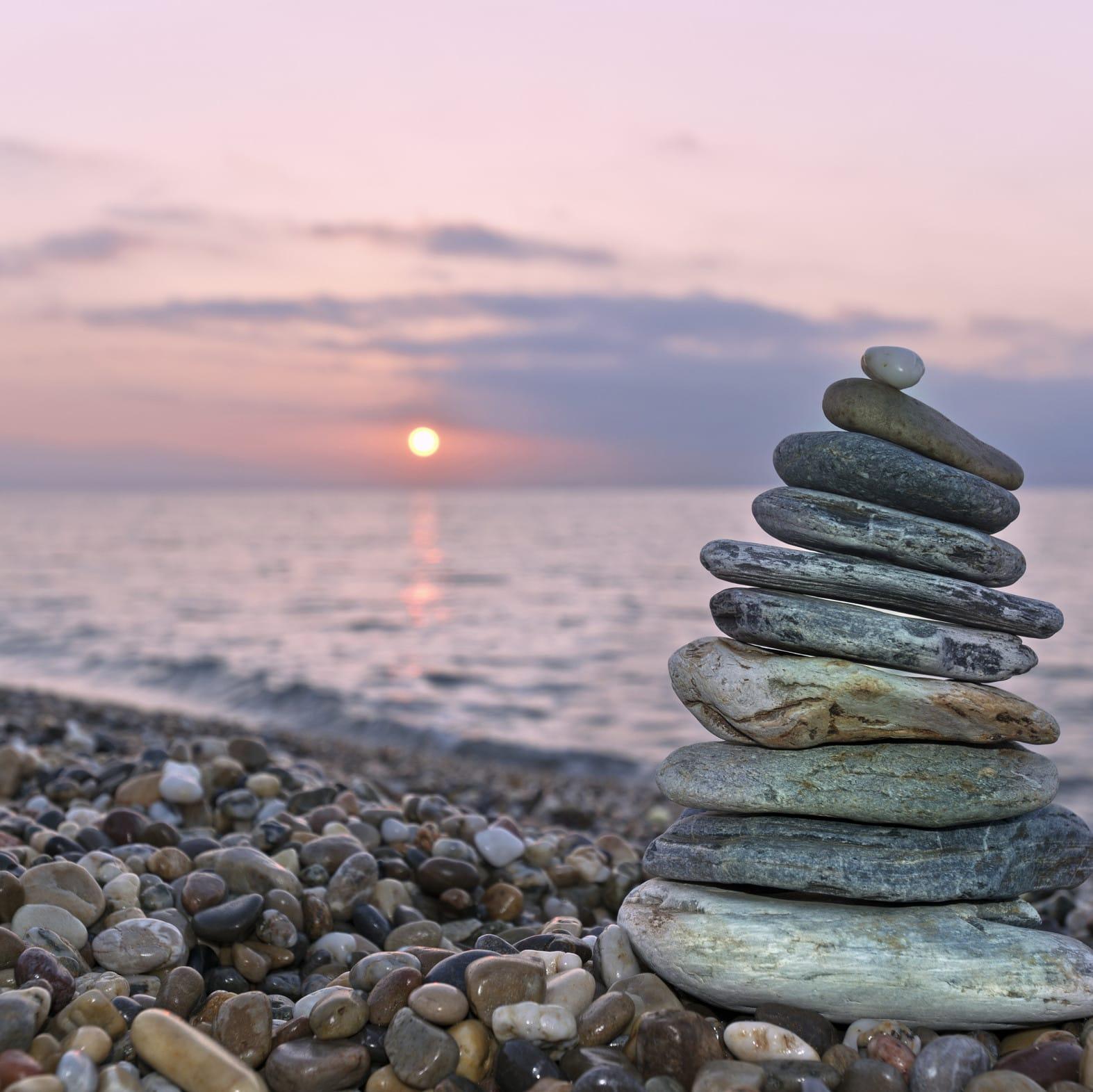 Steine Balance-Akt