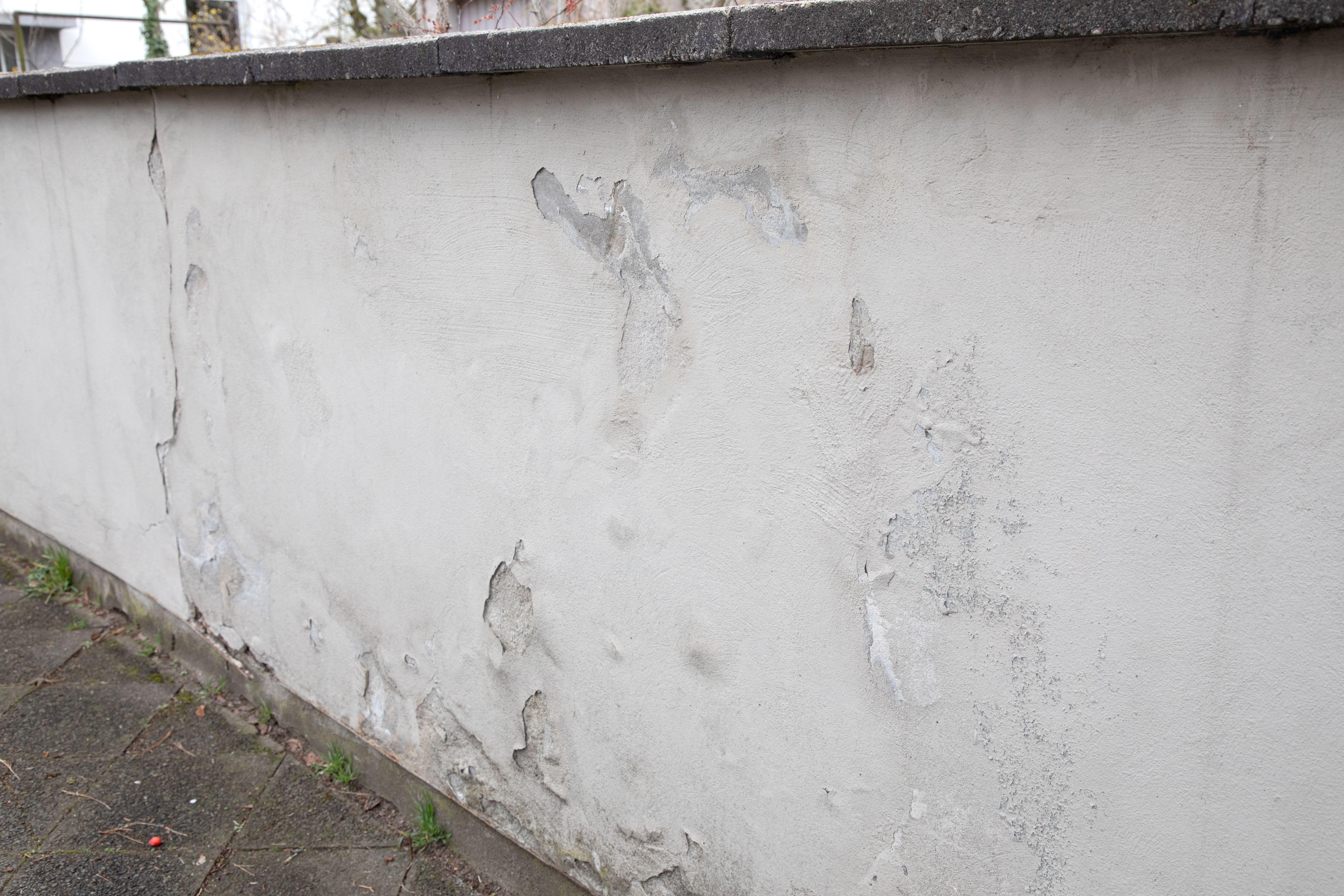 Bauwerkabdichtung einer Mauer