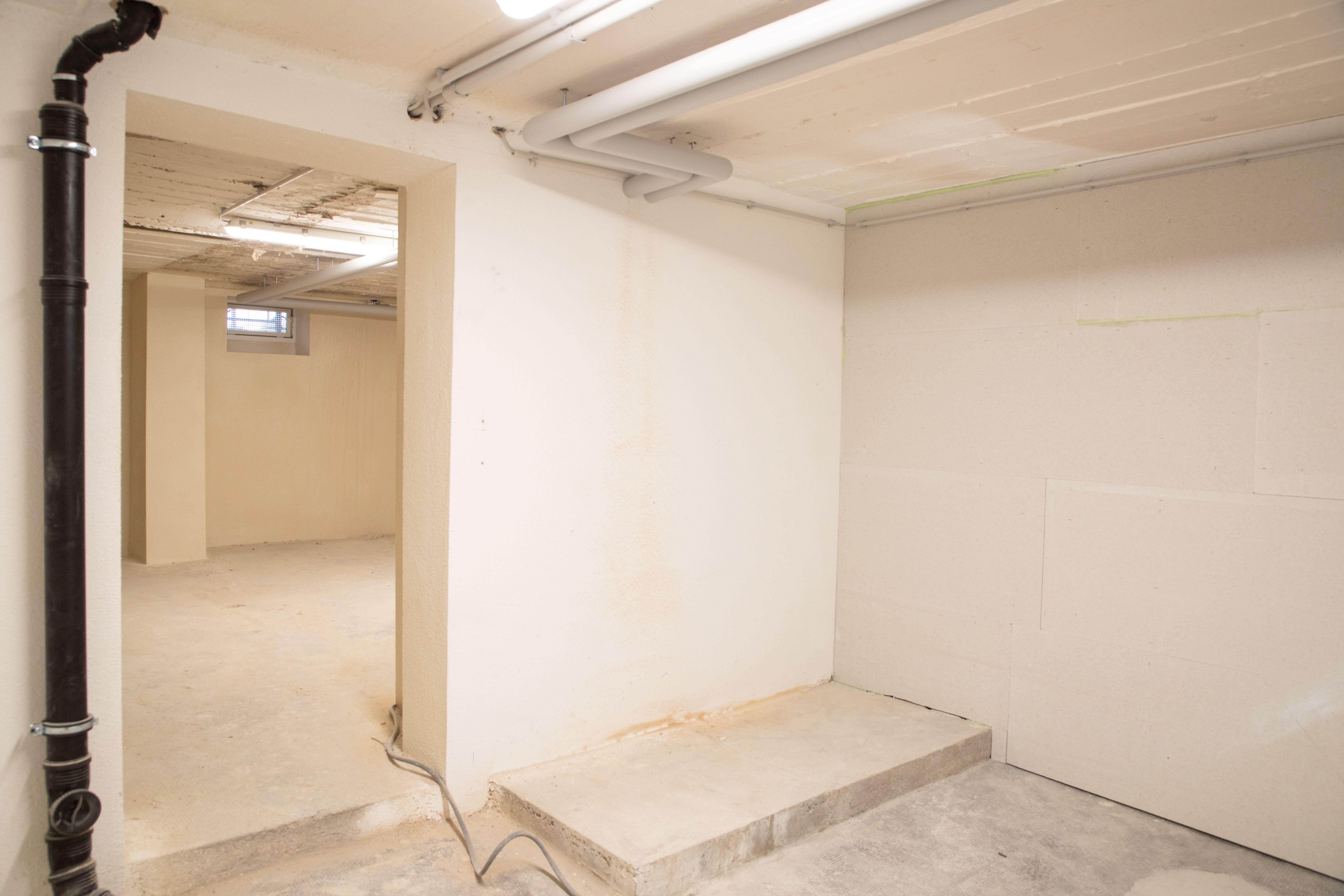 Kellerraum während der Sanierung