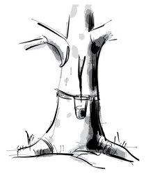 Naturkautschuk Zeichnung