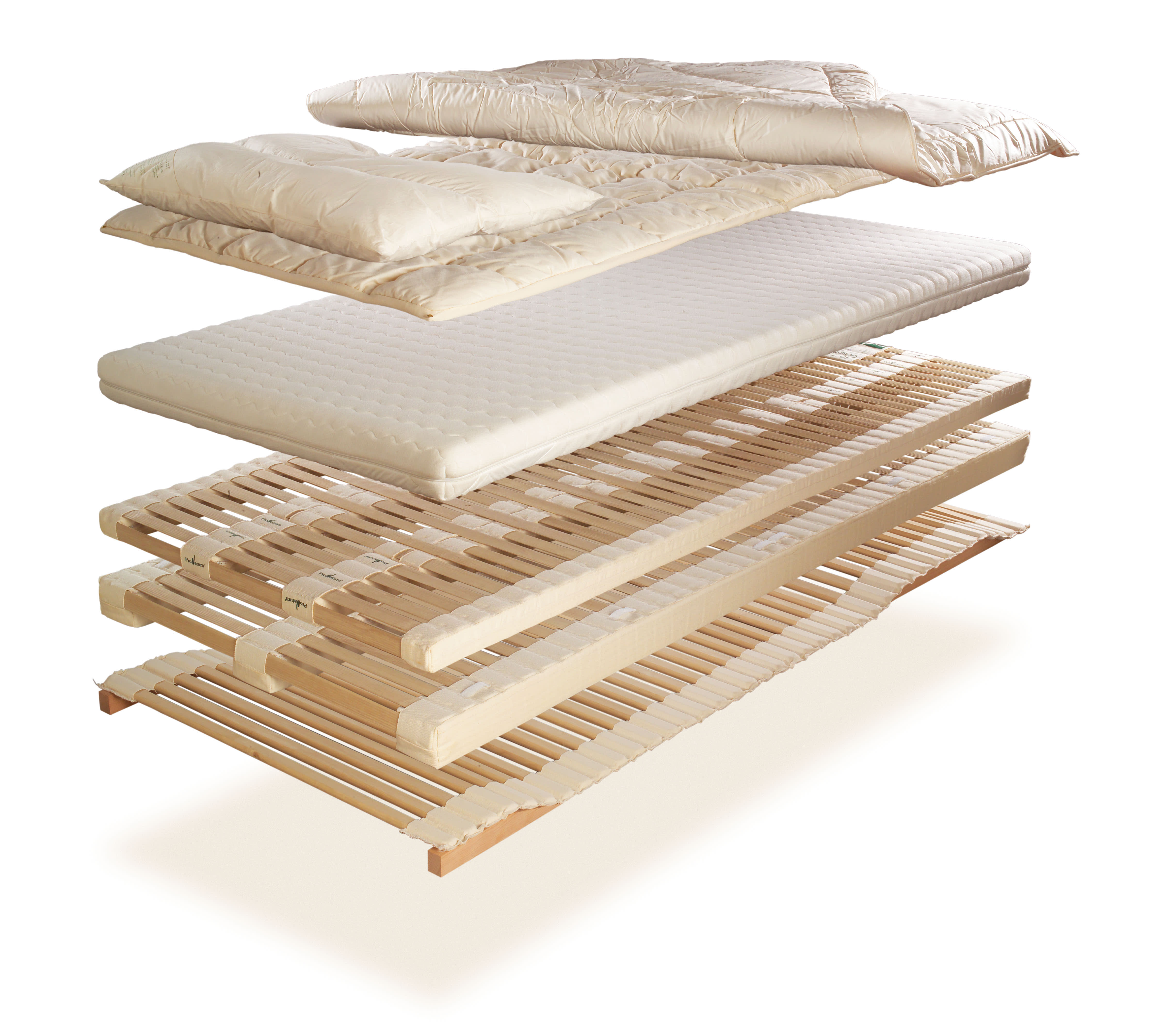 ProNatura Bett Schlafsystem Aufbau