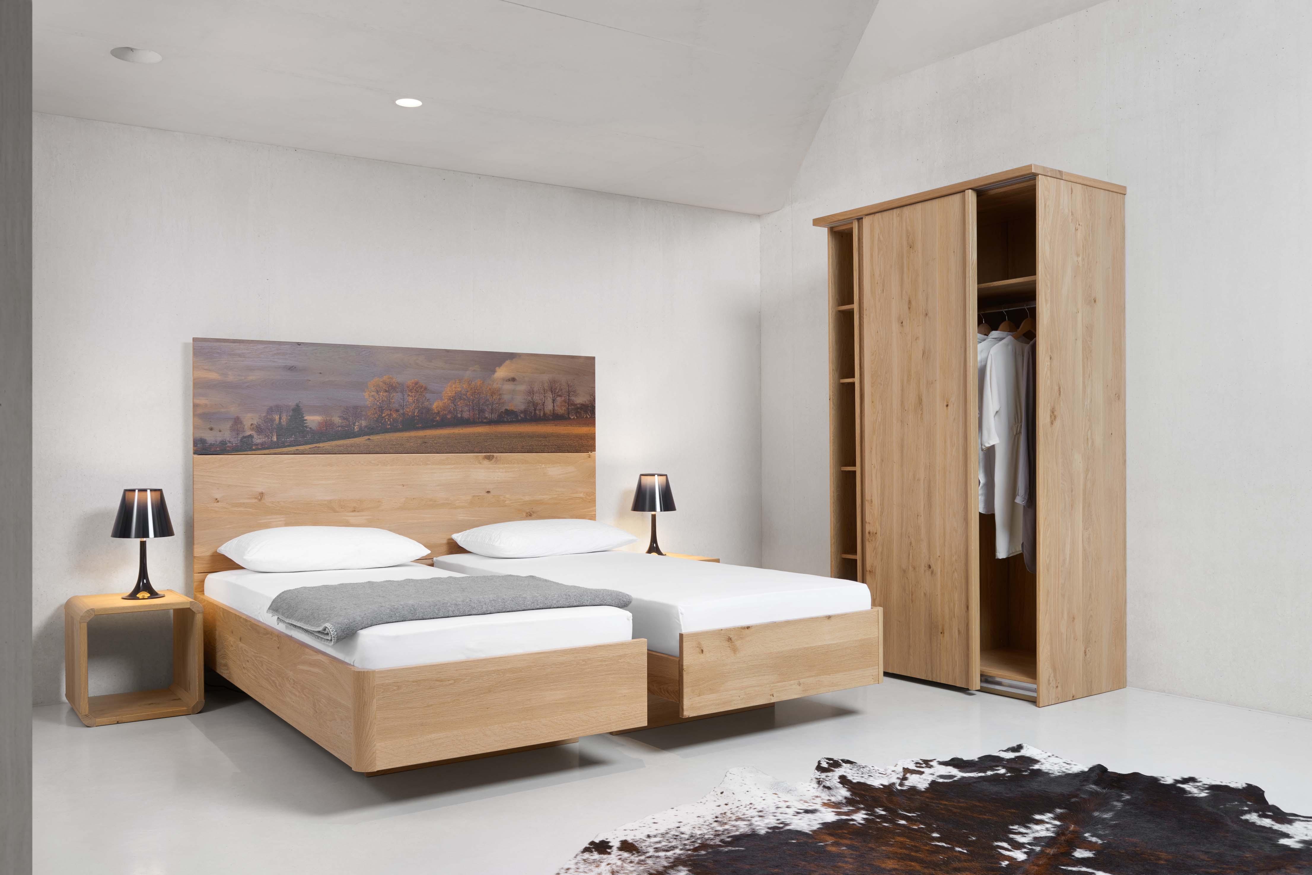Garderform Gardena Eiche Bett Schlafzimmer