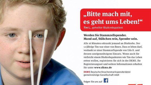 DKMS Deutsche Knochenmarkspenderdatei GmbH Werbeplakat