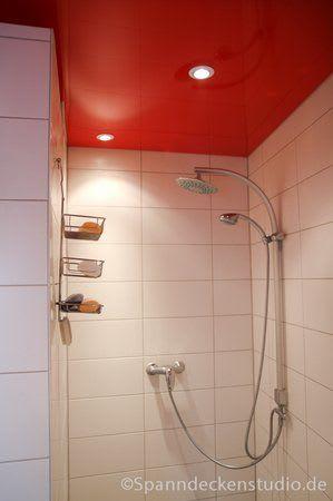 Spanndecke rot Badezimmer