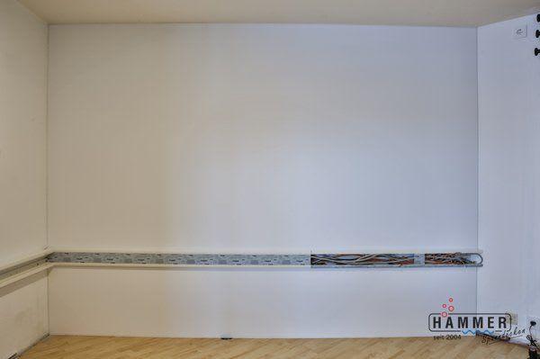 Spanndecke nach der Renovierung weiß matt
