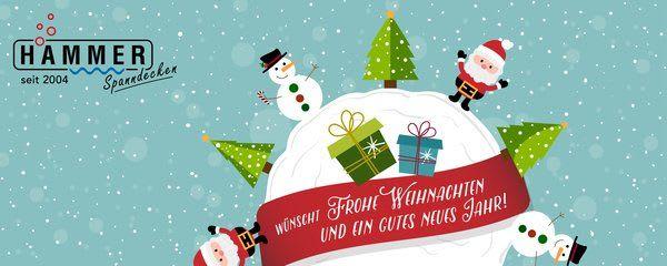 Frohes Fest wünscht Spanndeckenstudio Hammer