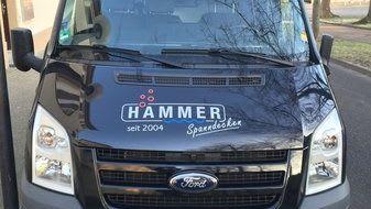 Montagefahrzeug Spanndeckenstudio Hammer Ansicht von vorne
