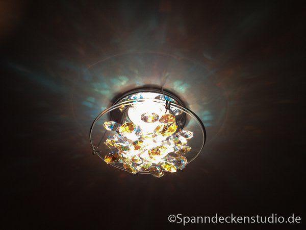 Lampe Glas Leuchtend mit goldenen Details