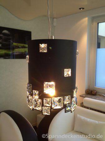 Beleuchtung Deckenlampe schwarz mit Glitzer