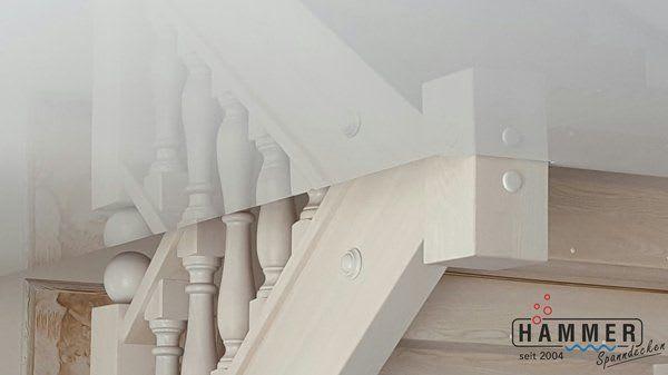 Kunststoffspanndecke reinweiß glanz Wohnzimmer