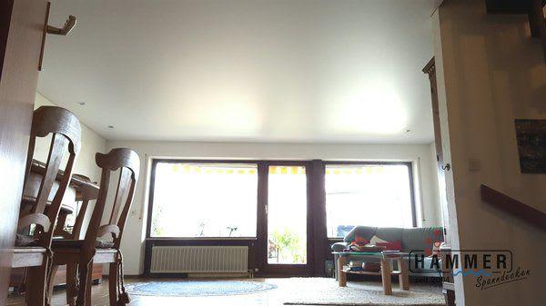 Kunststoffspanndecke weiß matt Projekt Oberstenfeld Wohnzimmer