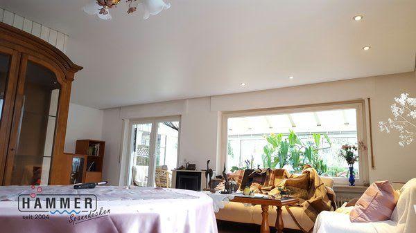 Kunststoffspanndecke weiß matt Projekt Freiberg Wohnzimmer