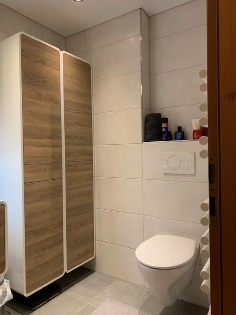 Schrank und WC. Badstudiohammer
