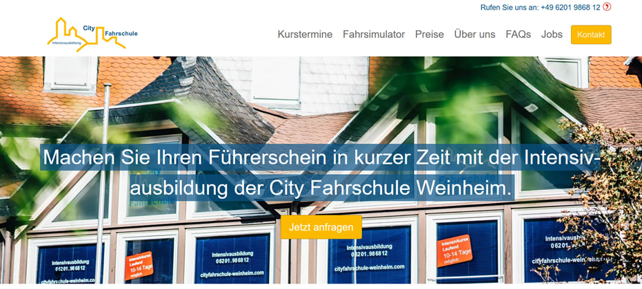 Inbound Marketing Kunde, City Fahrschule