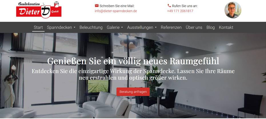 Inbound Marketing Kunde, Dieter-Spanndecken