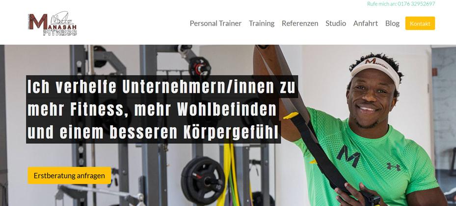 Inbound Marketing Kunde, Manasah Fitness
