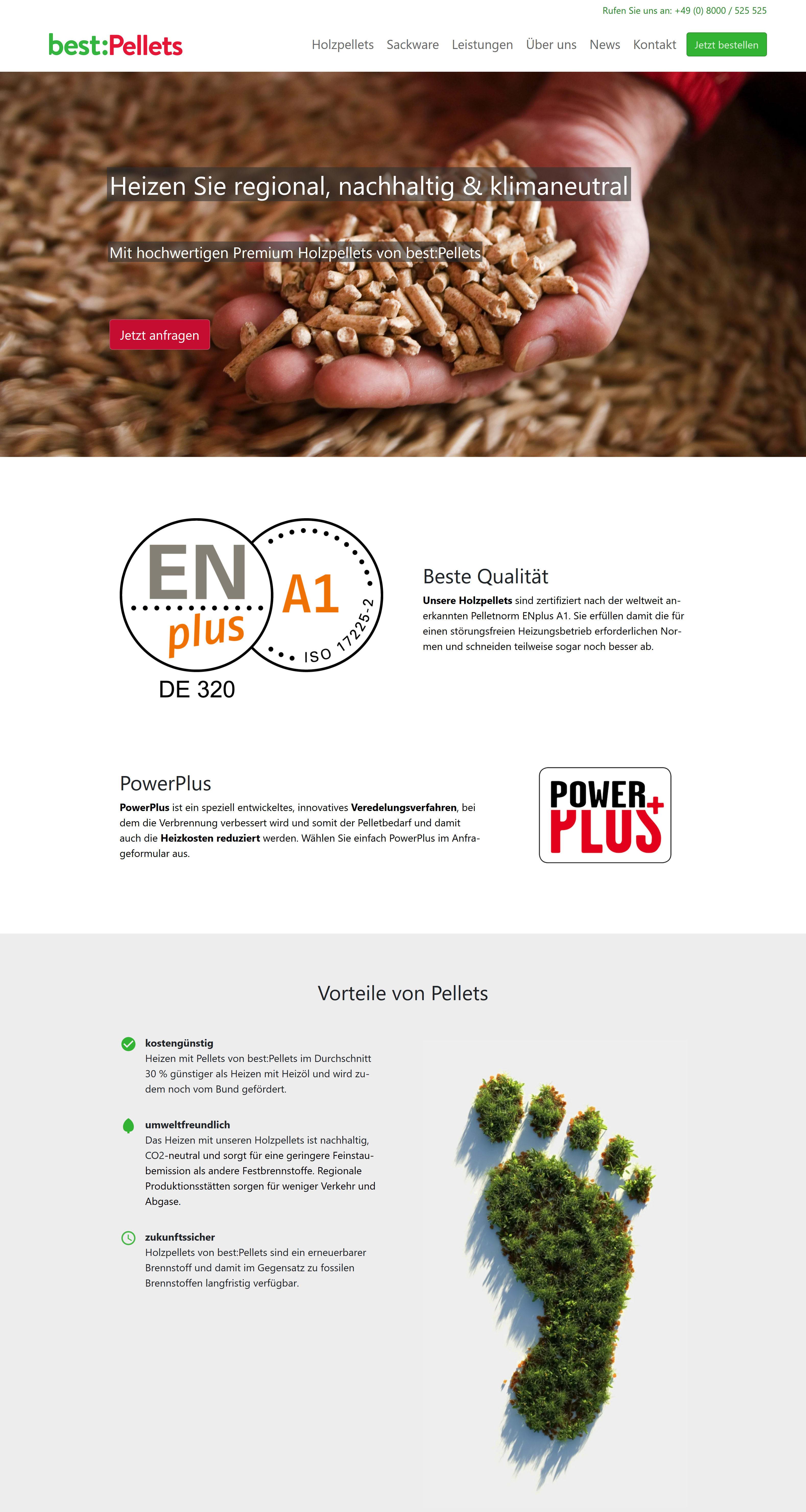 Screenshot der Seite best-pellets.de