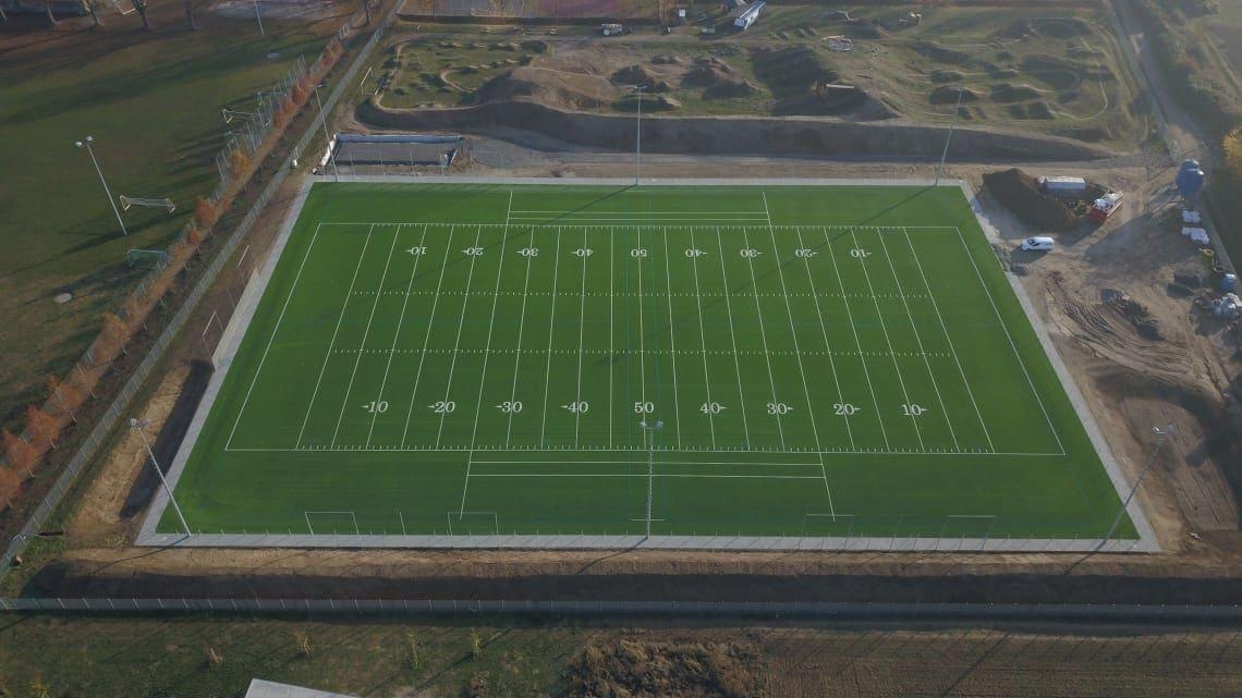 Football-feld von P&T Sportplatzsysteme