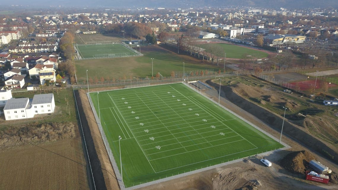 Football-Feld in Weinheim