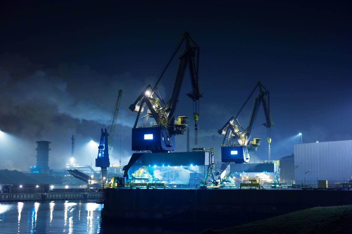 Hafen Beleuchtung mit AAA-Lux LED
