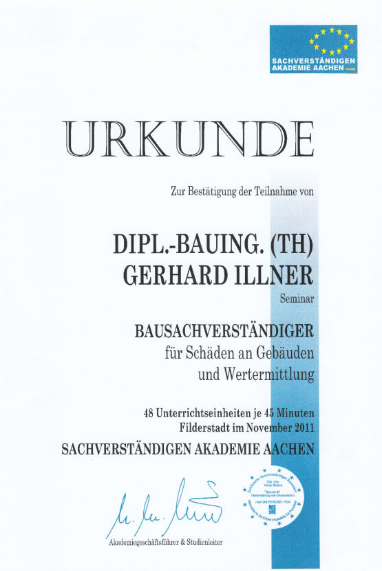 Zeugnis Gerhard Illner