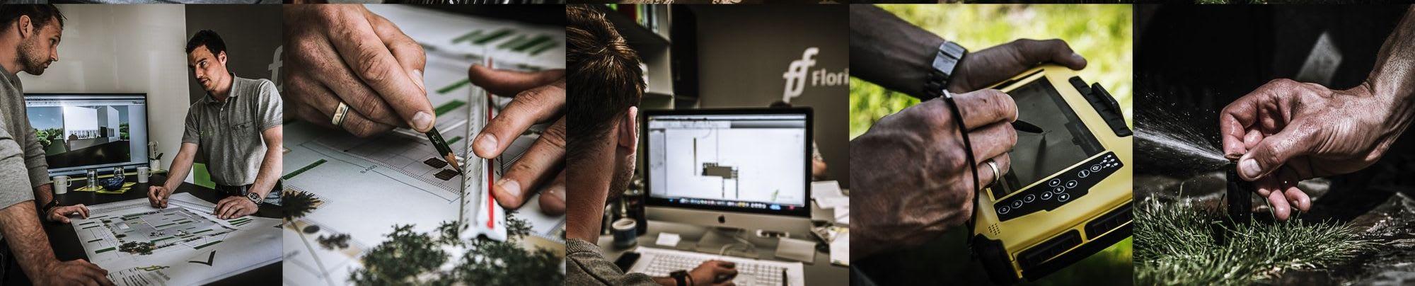 Teambild Gartengestaltung Florian Feth
