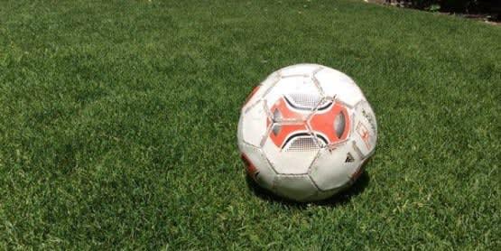 Rasen mit Fussball