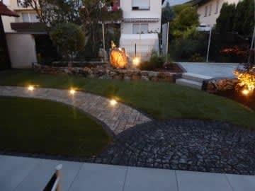 Wegbeleuchtung im Garten installiert von Florian Feth