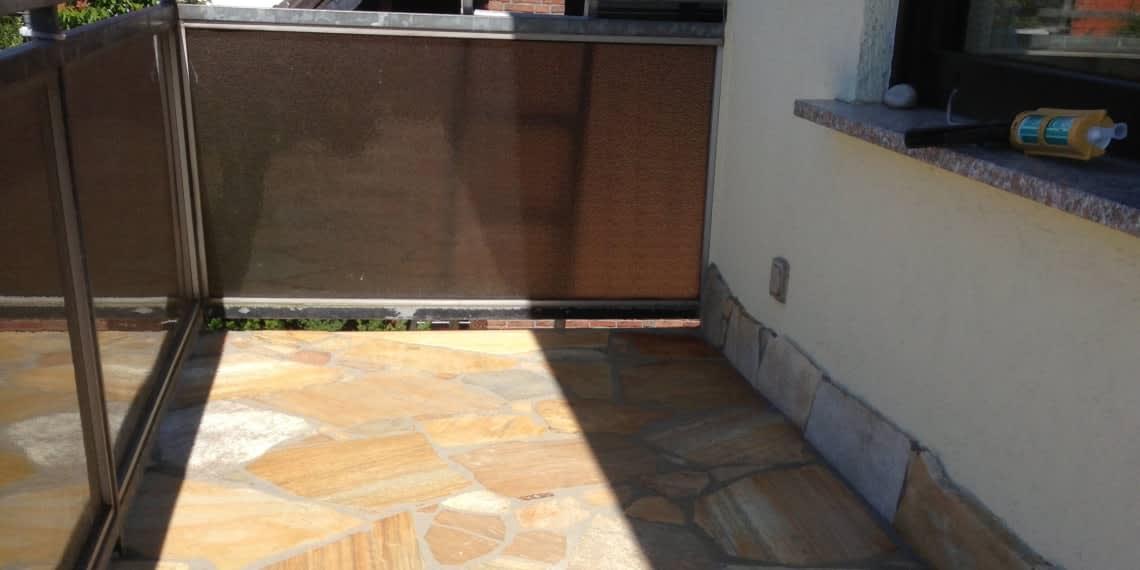 Balkon mit Quarzit Platten