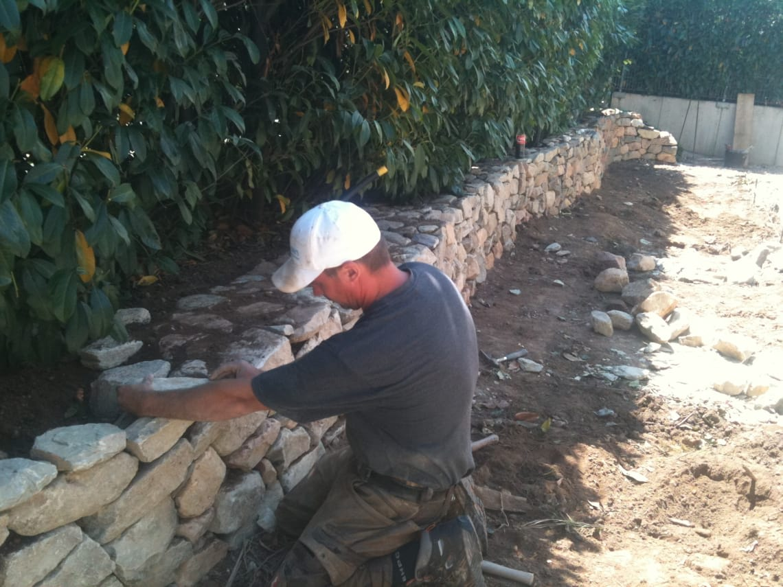 Naturstein am Bauen