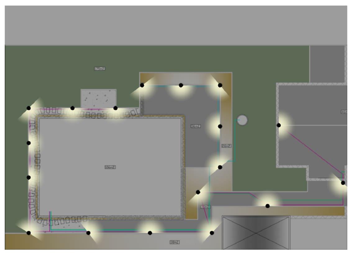 Grundriss für die Gartenplanung von Florian Feth digital erstellt