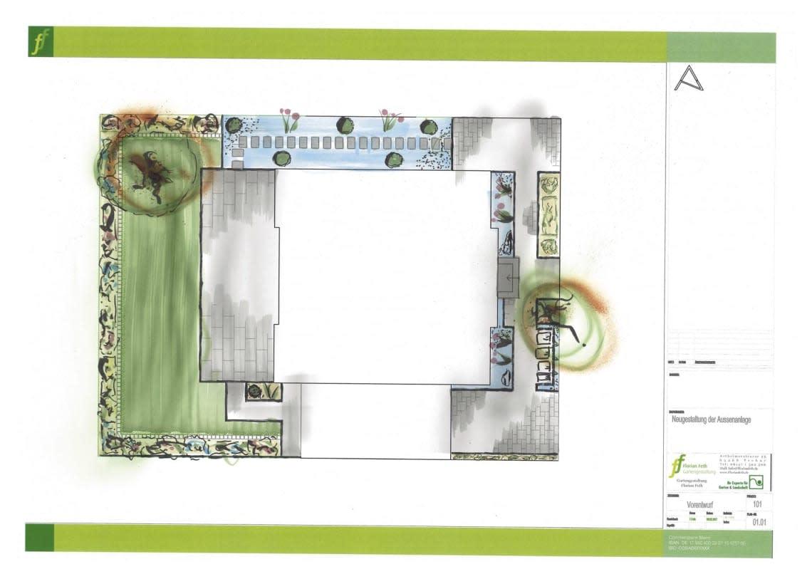 Digitaler Entwurf für die Gartenplanung von Florian Feth