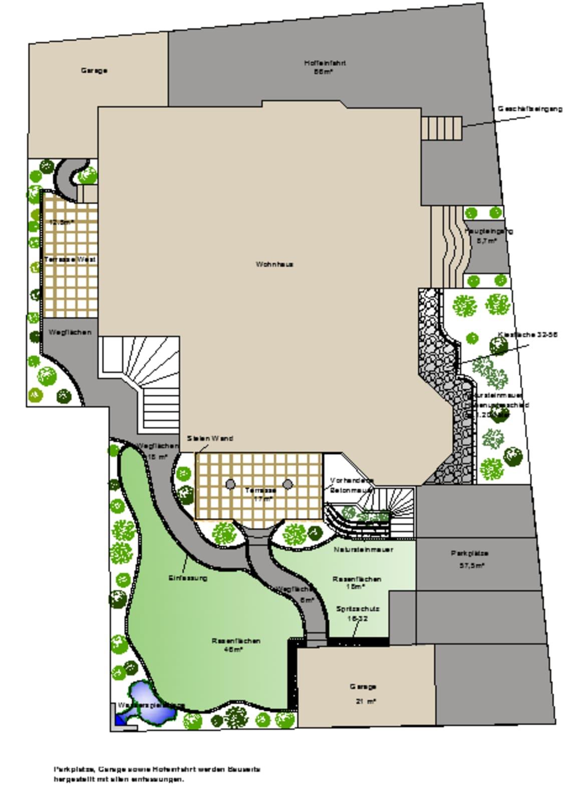 Grundriss für die Planung des eigenen Garten von Florian Feth