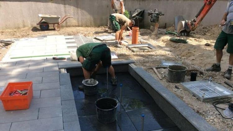 Gartenumgestaltung Wasserspiel Vorher